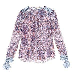 Rebecca Taylor Paisley Silk Blouse
